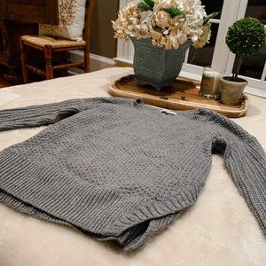 Madwell Texturemix Gray Pullover Sweater